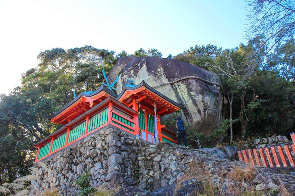 Kamikura Shrine on Japanese mountain