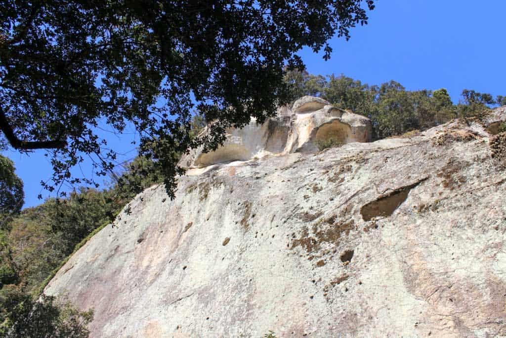 rock cliff at Hana-no-Iwaya Shrine in japan