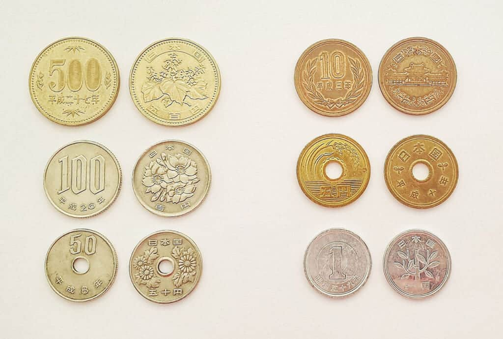 Japanese coins used in Japan today