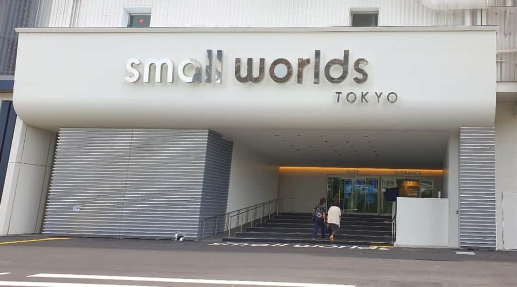 Entrance area to the Small World Tokyo building