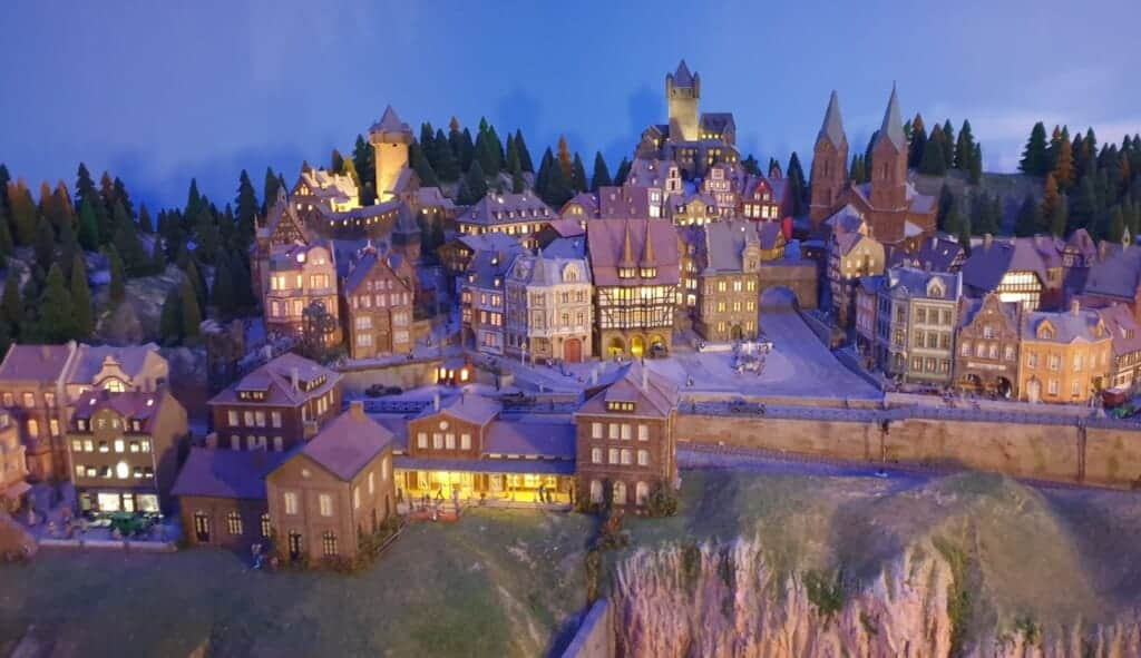 European styled city at the Global Village Area of Small Worlds Tokyo