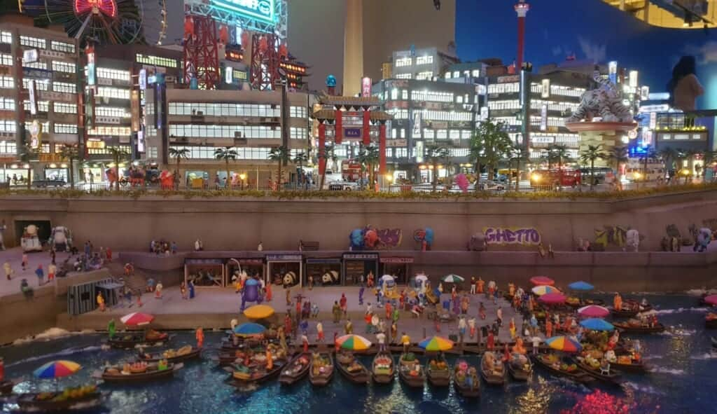 Harbor market at the Global Village Area of Small Worlds Tokyo