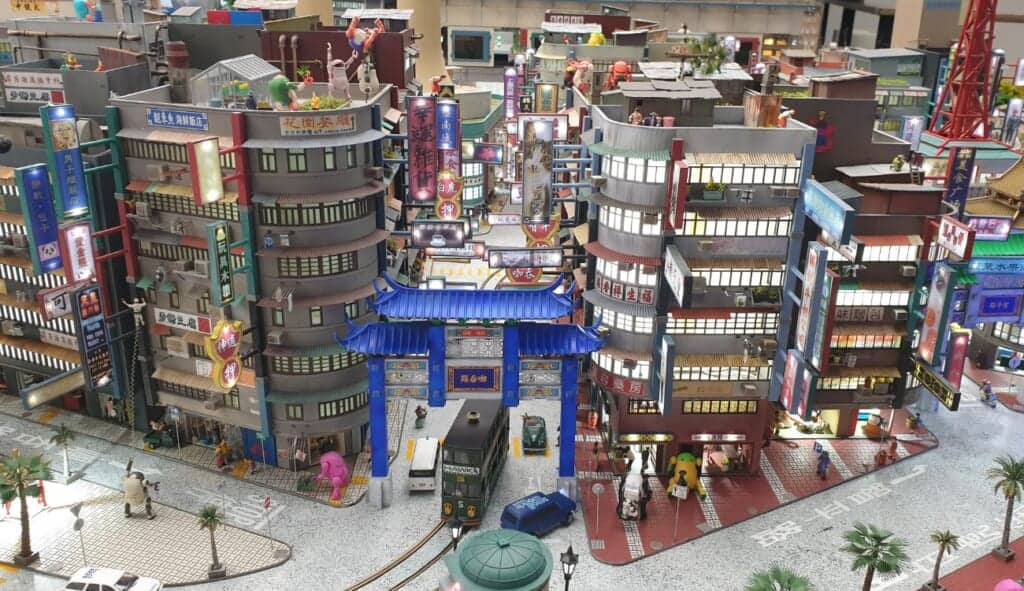 Chinese styled city view at the Global Village Area of Small Worlds Tokyo
