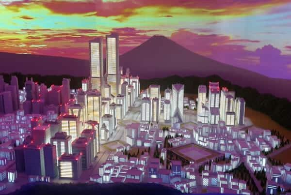 Evangelion Tokyo-III Area at Small Worlds Tokyo