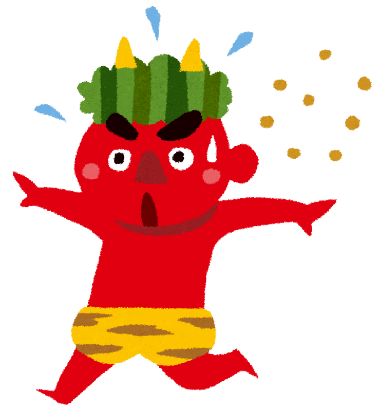 A demon running because of beans