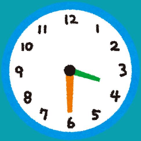cartoon image of clock showing three thirty