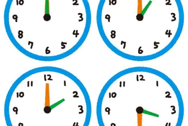 illustration of clocks