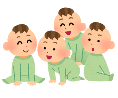 cartoon image of a group of babies