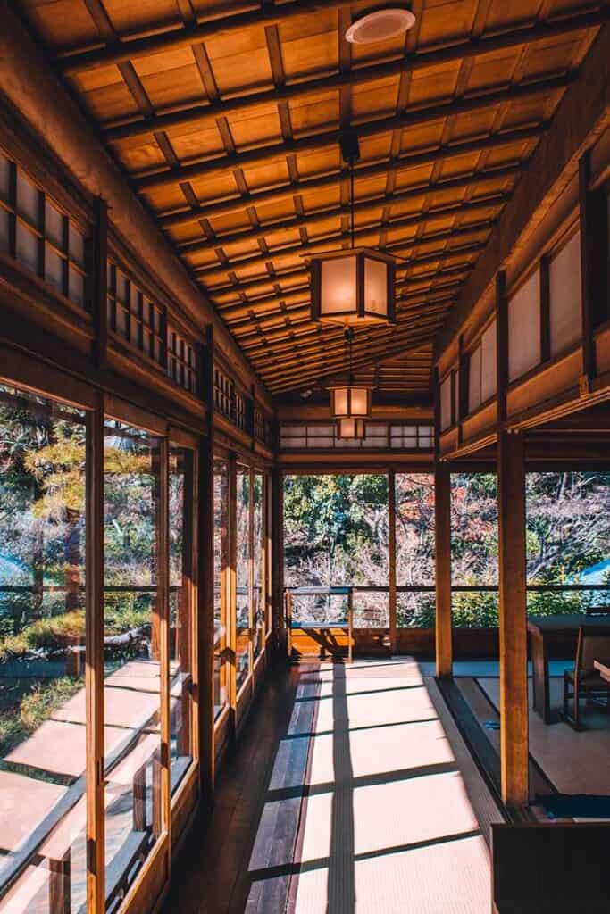 Kishiwada Gofuso Restaurant interior of traditional Japanese home