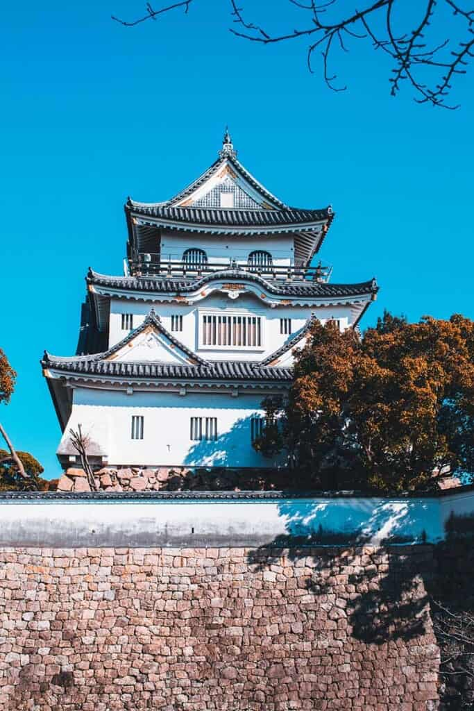 Kishiwada Castle south of Osaka