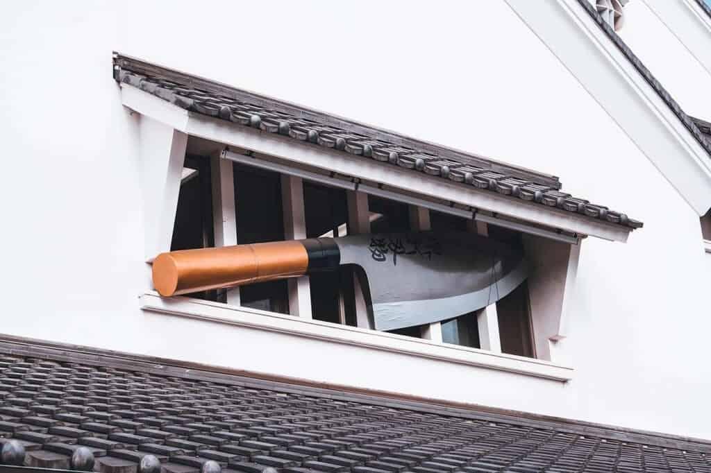 Giant knife on the Sakai Knife Museum in Japan