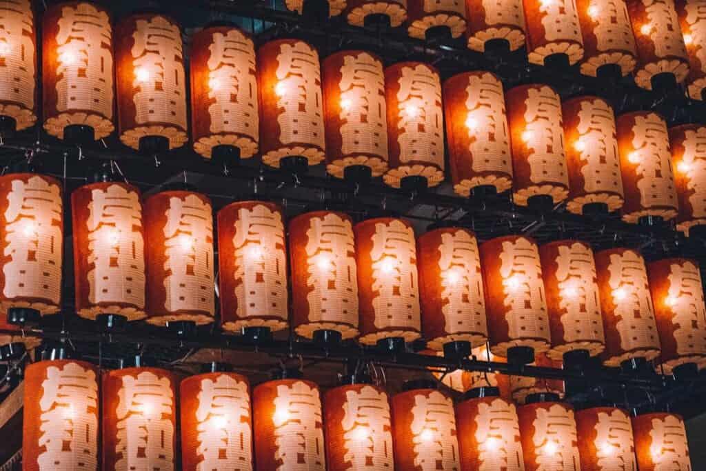 Kishiwada Japanese lanterns