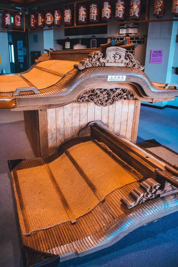 Roof of wooden shrine