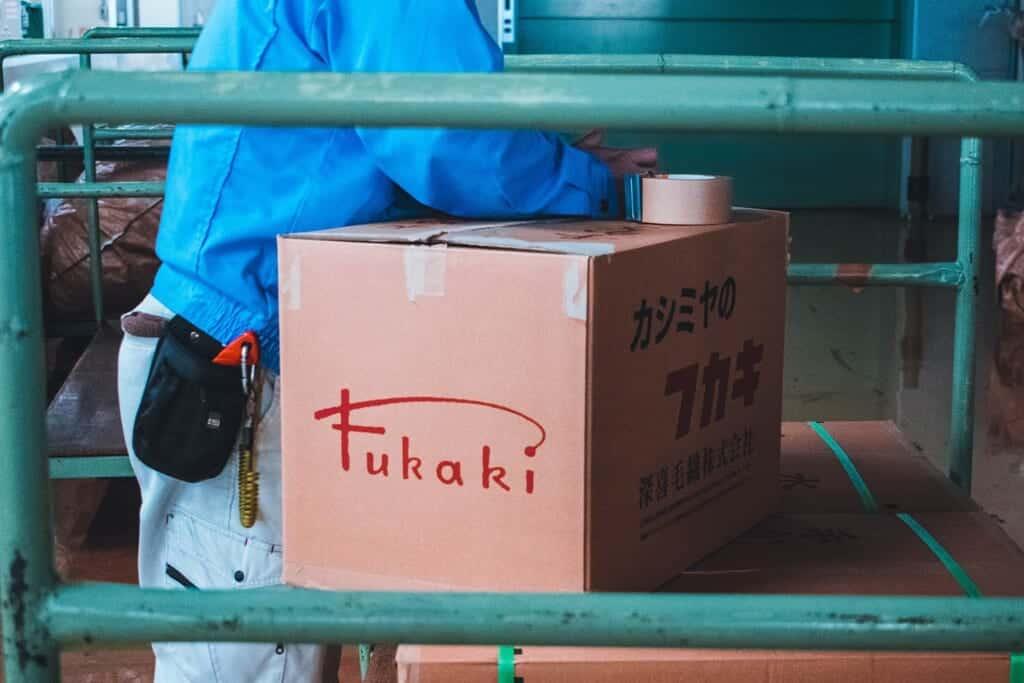 Fukaki box ready to ship to customers in Japan