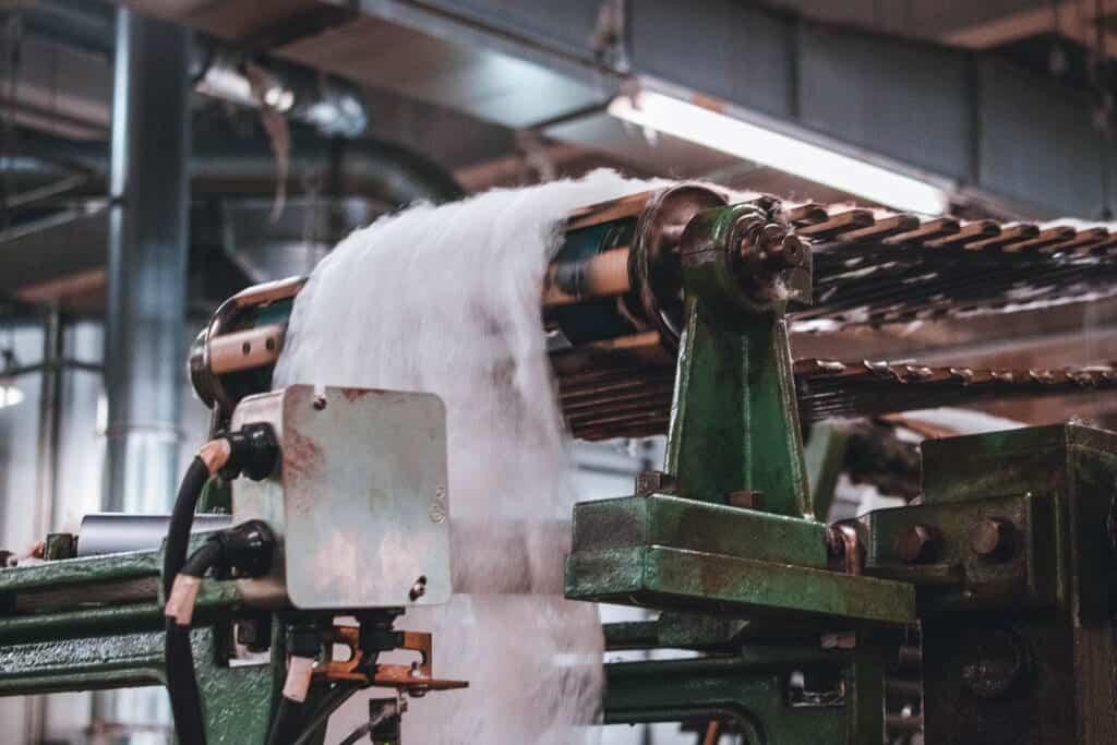 Raw wool material in Japan