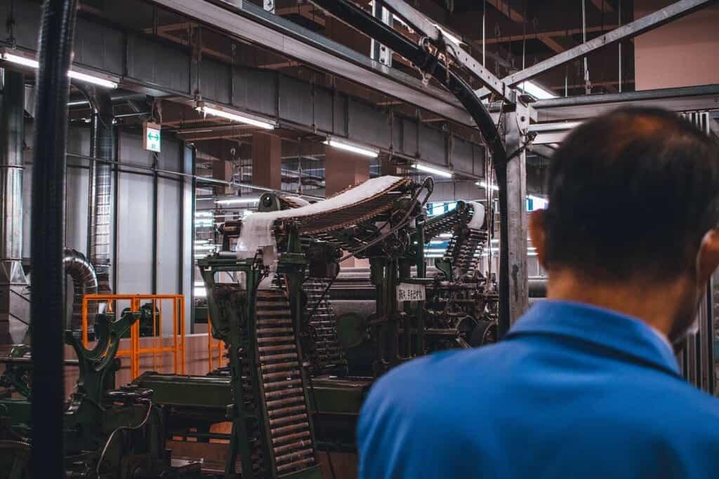 Wool processing machine in Japan