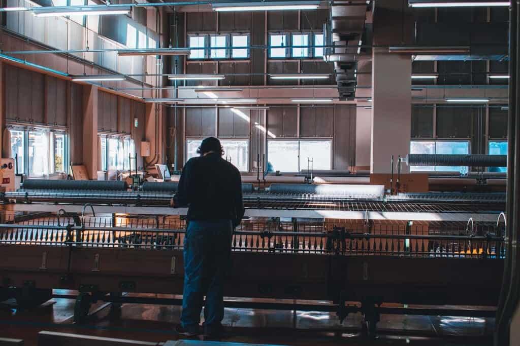 Fukaki factory machines in Japan