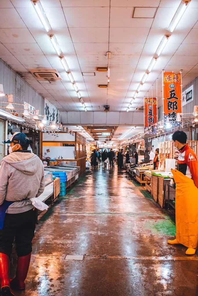 Fish Market aisle in Japan
