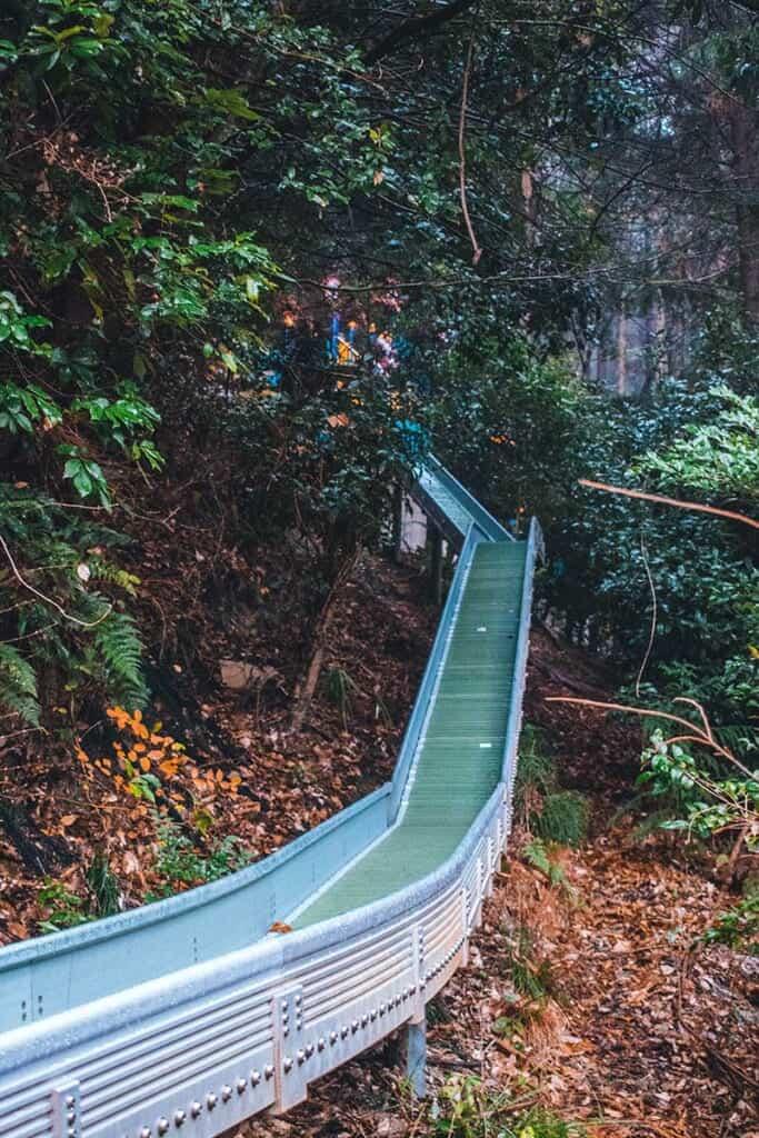 Slide in Japanese park in Osaka, Japan