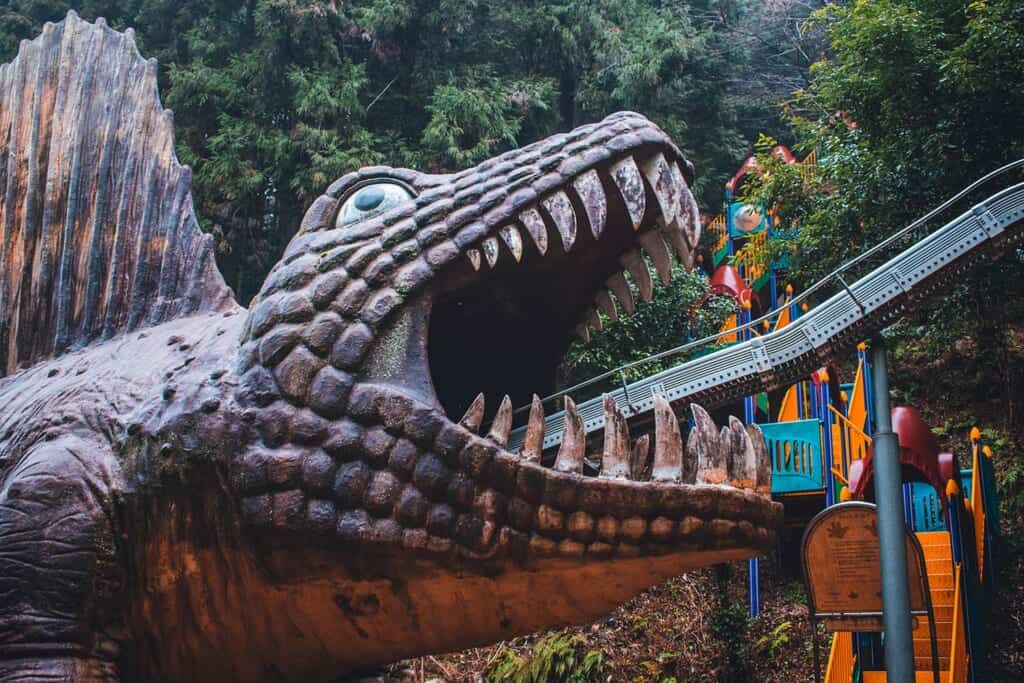 Giant dinosaur slide in Osaka, Japan