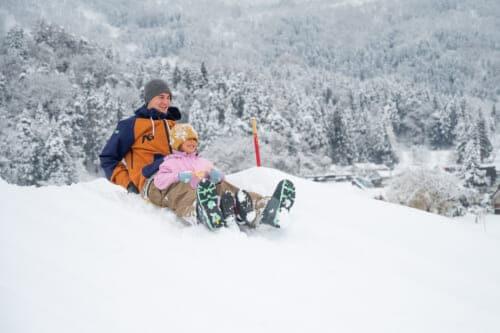 family enjoys snowy holiday in iiyama nagano japan