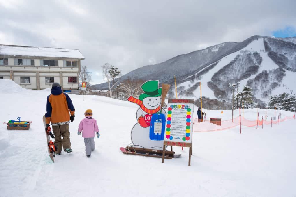 Madarao Ski resort kid's play area