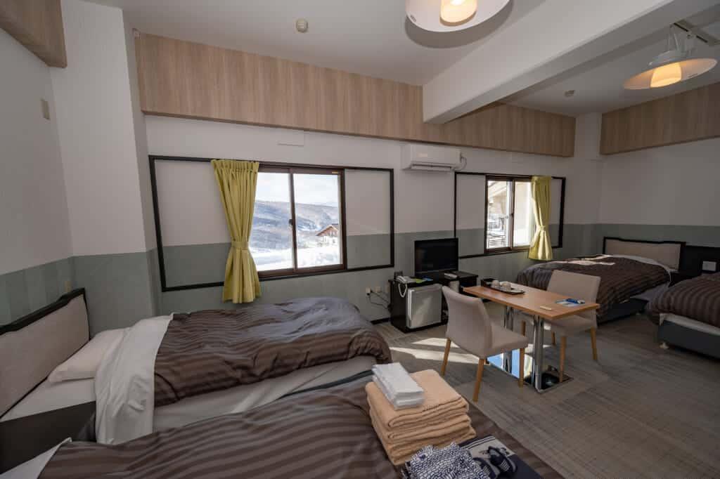 refurbished large hotel room at madarao kogen hotel