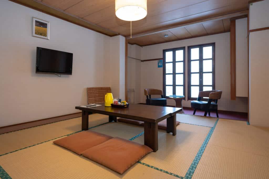 japanese tatami room at motoyashiki