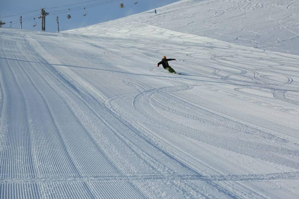 skier at Happo One Ski resort in Nagano