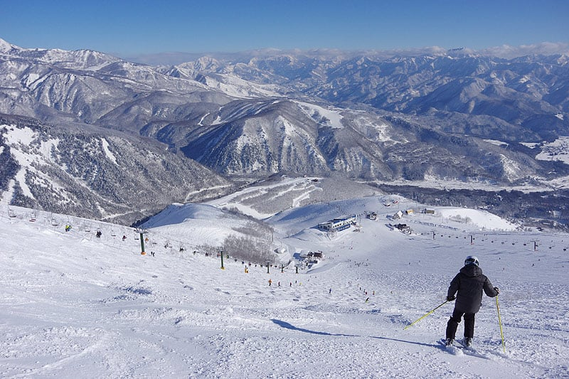 the panoramic view from Happo One ski resort