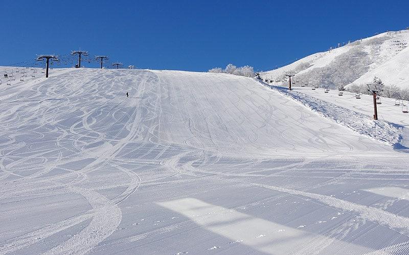 Open ski slope of Happo One Ski Resort