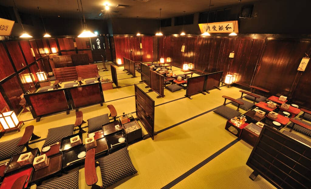 dining area at Shinshu Nagaya Sakaba