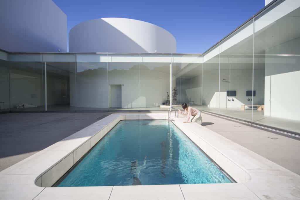 swimming pool in courtyard