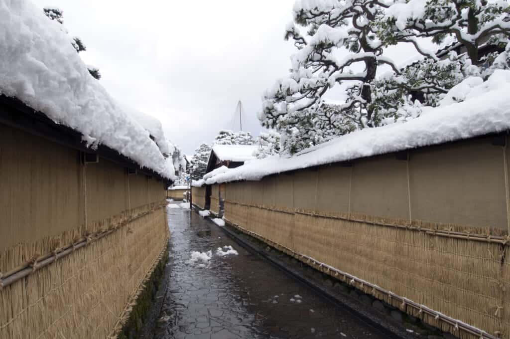 snow covered walls