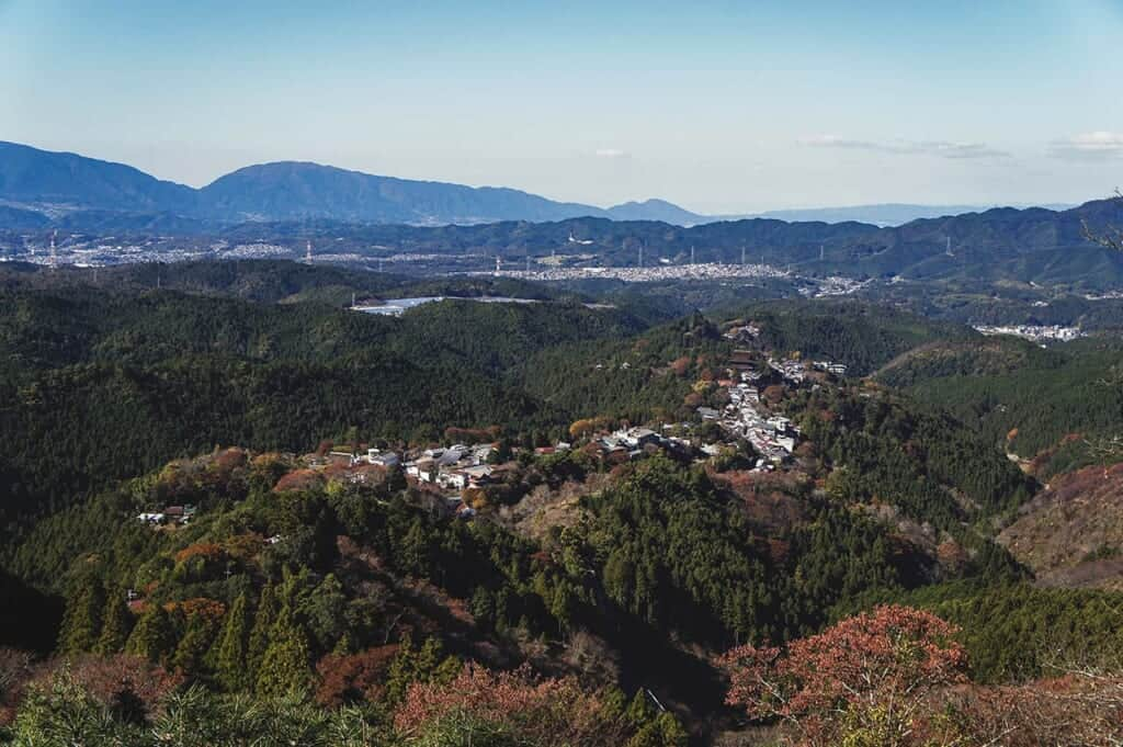 View from Mount Yoshino in autumn