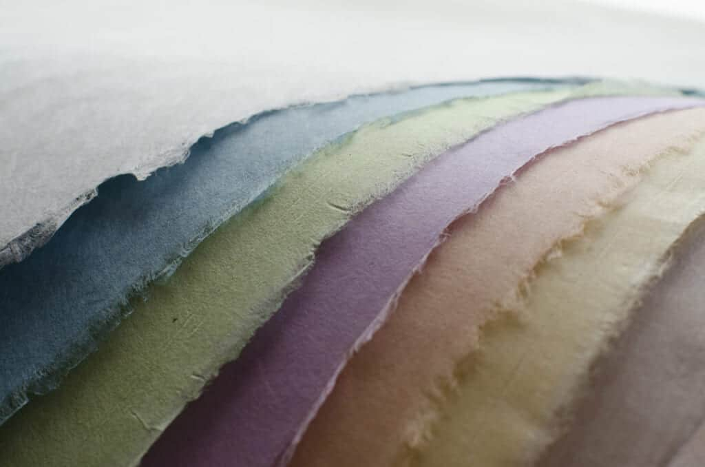 Washi paper in different pastel colors