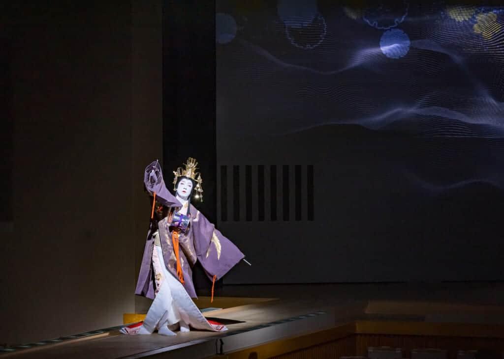 Kabuki dancer on stage