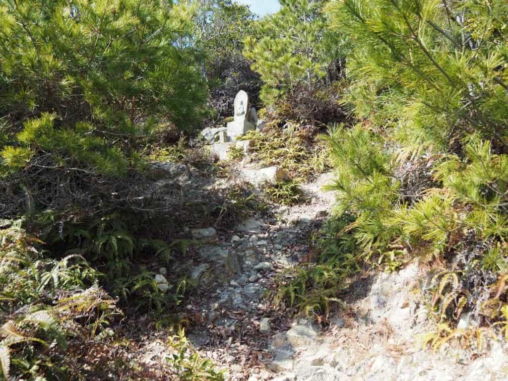 Jizo statue at Mt Chausuyama  along Japanese hike