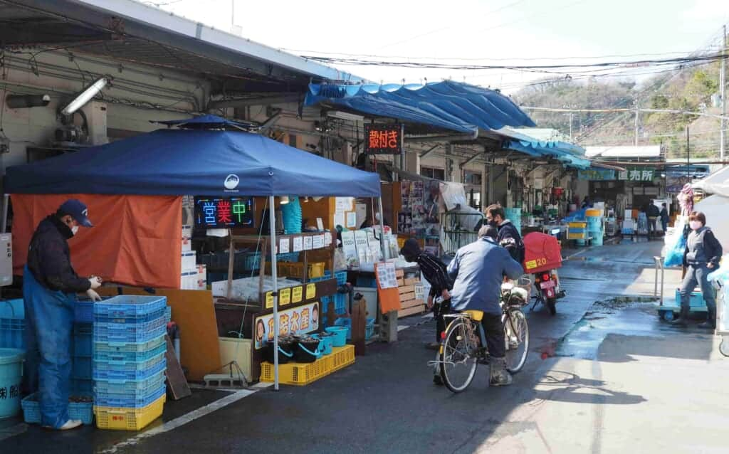 Sakoshi Port, a Japanese fish market in Japan