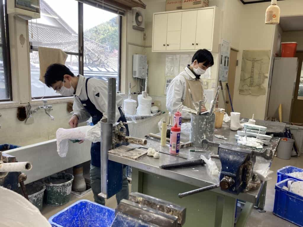 making Japanese prosthetics in workshop in Japan