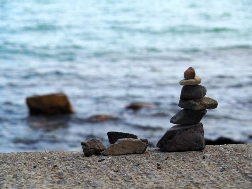 Stapled stones in Misaki