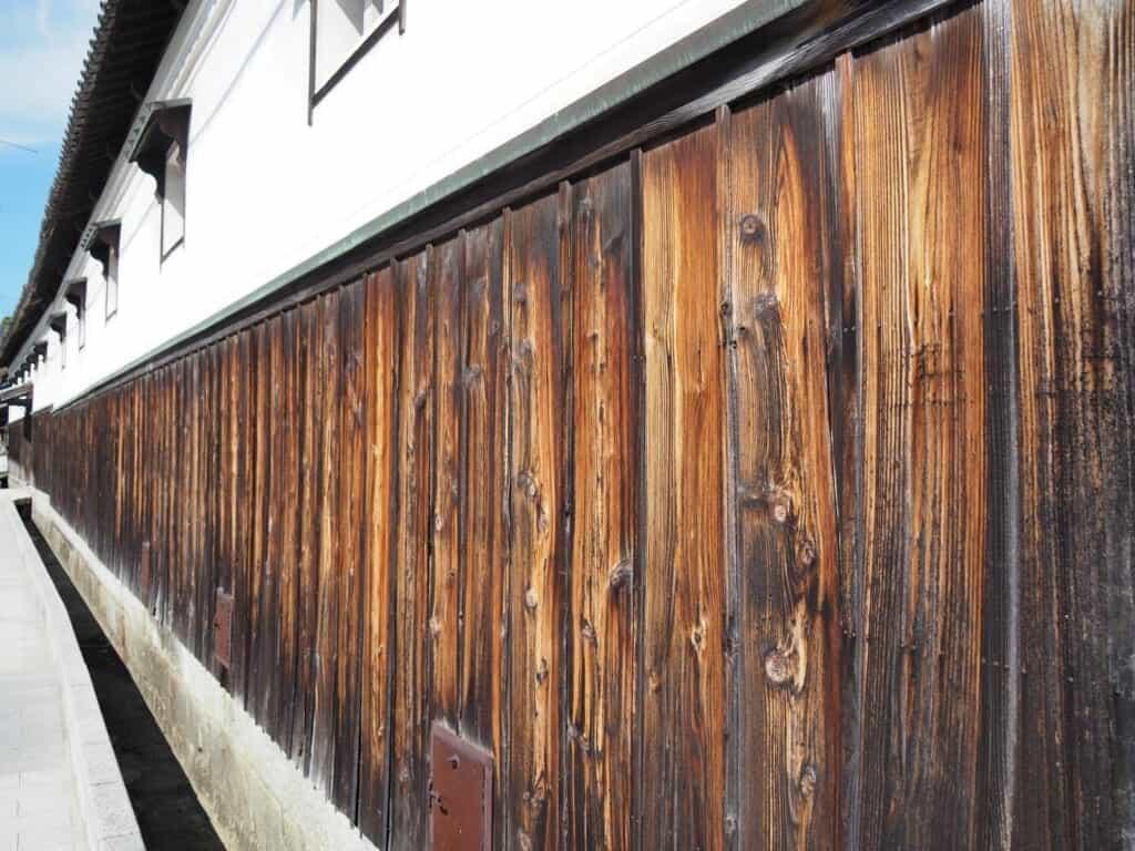 Wall of Okuto Sake Brewery