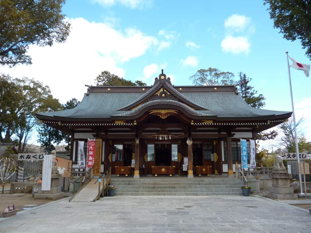 Oishi Shrine on a sunny day