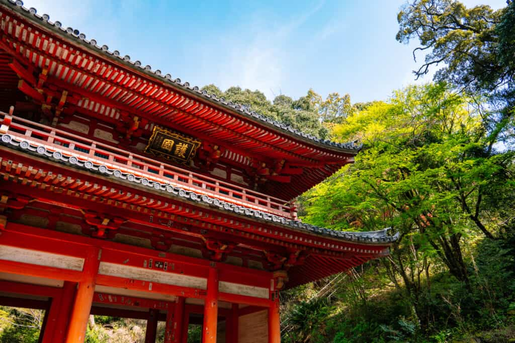 Japanese red gate at hokoji temple hamamatsu near tokyo
