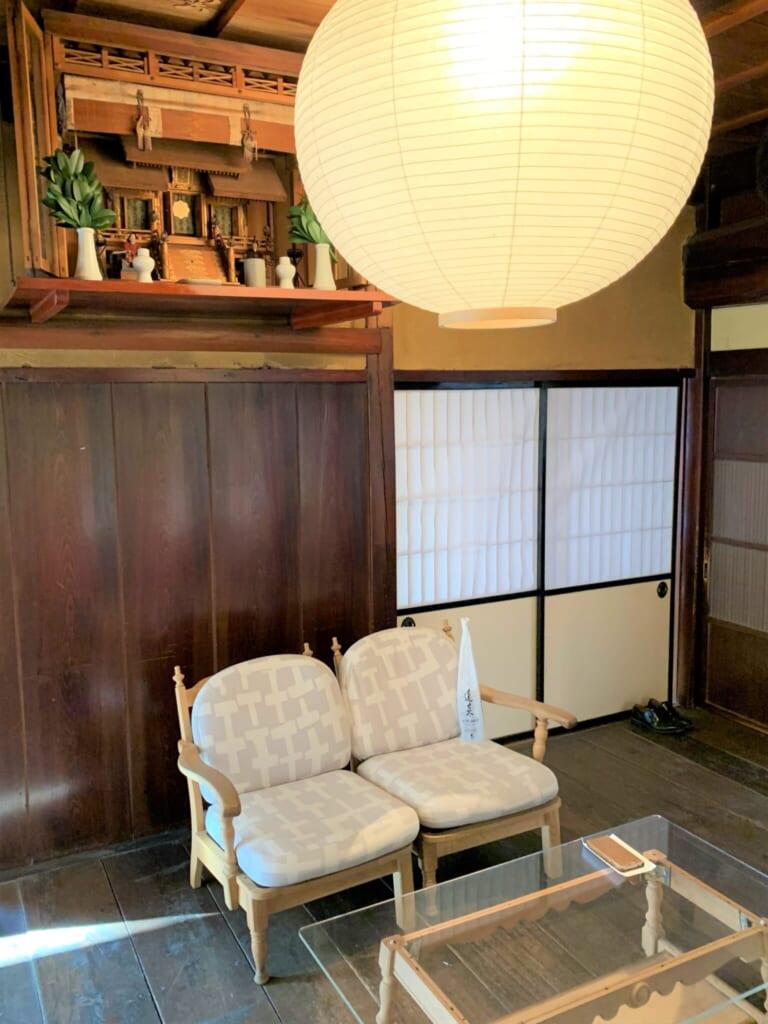 wooden interior of FabCafe Hida in Japan