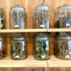Hida medicinal herbs in jars
