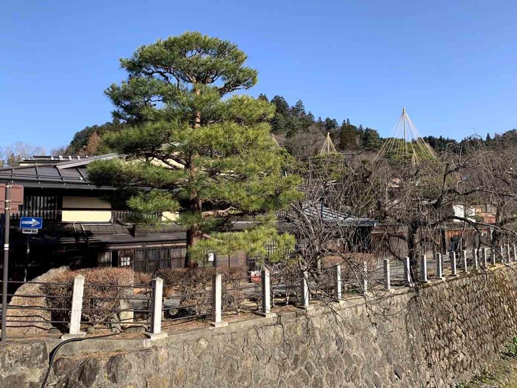 Traditional Japanese houses in a Satoyama mountain village in Hida Takayama, Japan