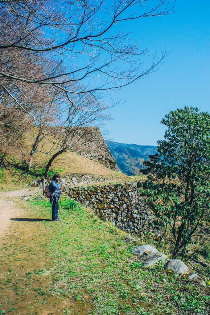 Hiking in the mountains in Japan