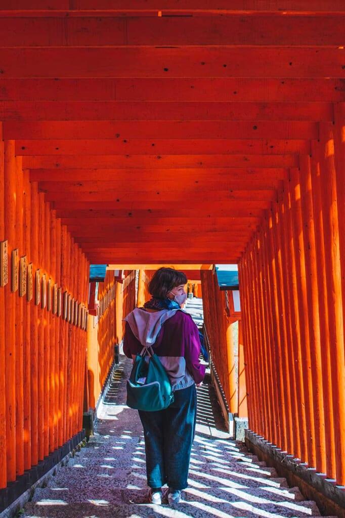 Walking through the Torii gates