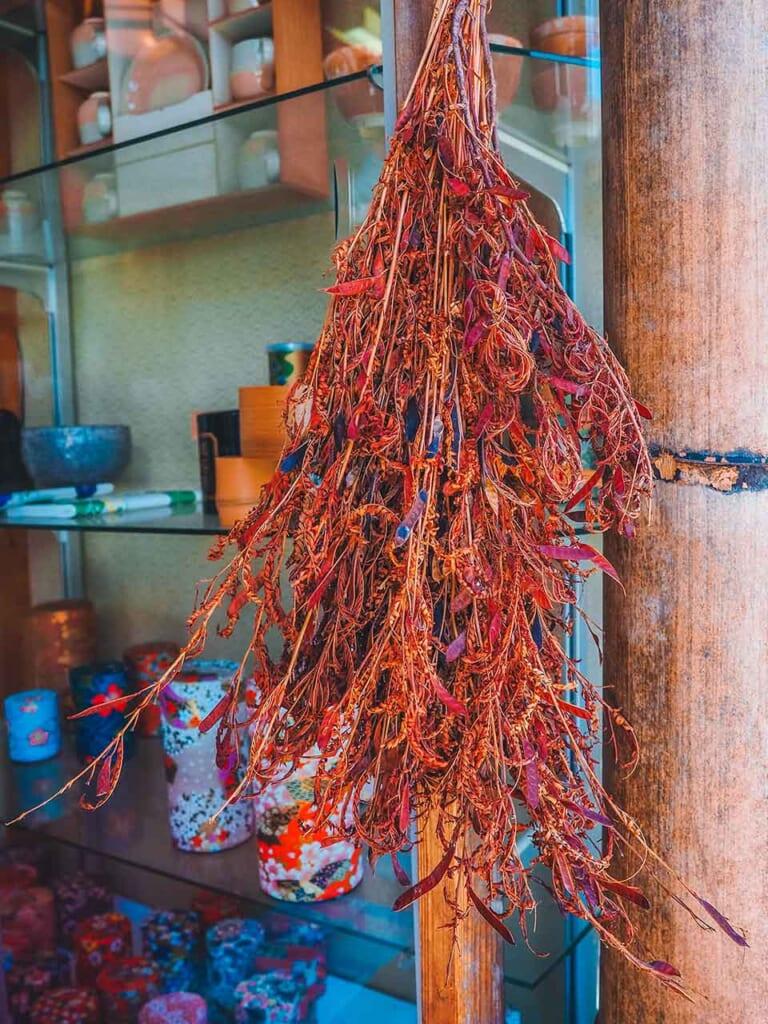 Hanging roasted tea leaves